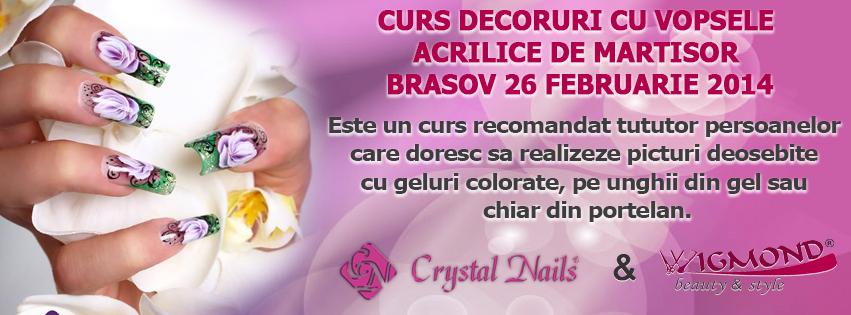 Curs Decoruri cu vopsele acrilice de Martisor Brasov 26 februarie 2014