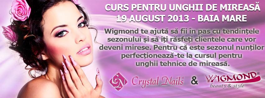 Banner 19  august 2013 Curs unghii de mireasa
